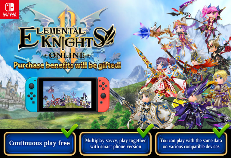 MMO RPG Elemental Knights R for Nintendo Switch